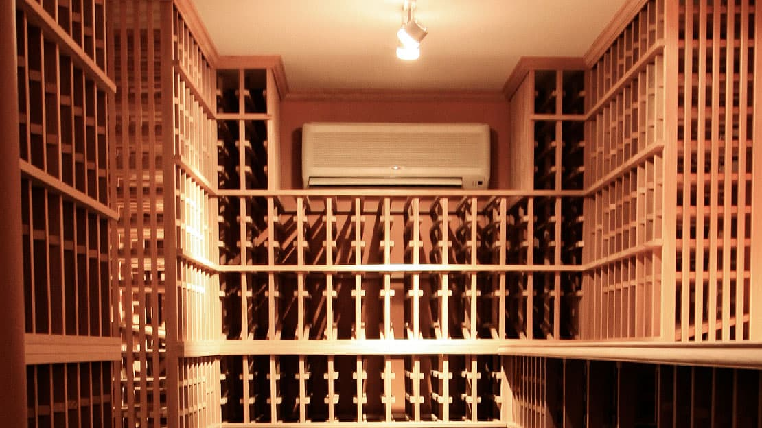 Wine Cellar Cooling Ductless Unit